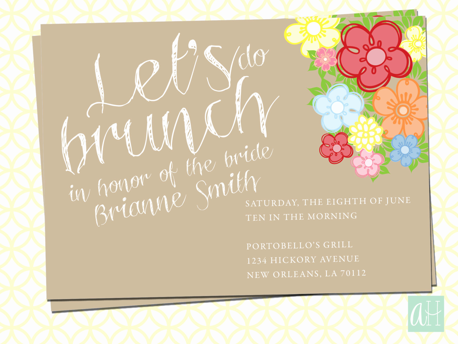 Brunch Invitation Wording Examples Awesome Printable Bridal Brunch Invitation Let S Do Brunch