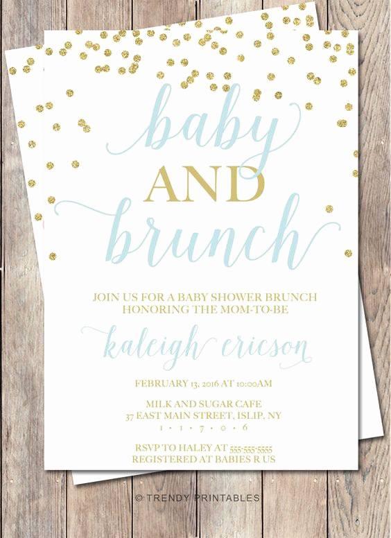 Brunch Invitation Wording Examples Beautiful Baby Shower Invitation Baby Shower Brunch Baby by