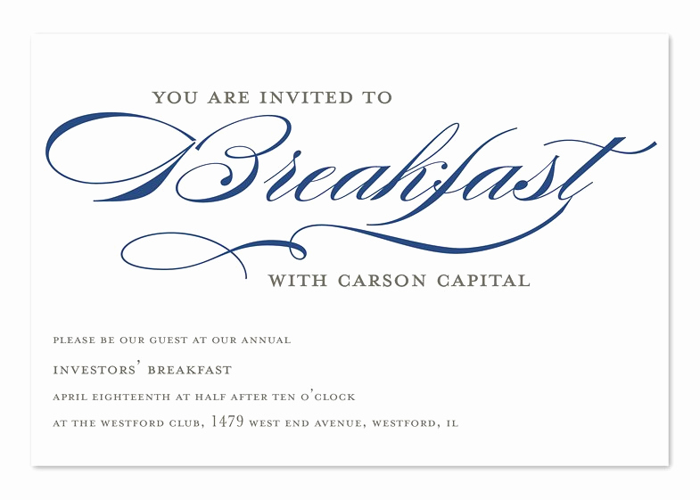 Brunch Invitation Wording Examples Best Of Breakfast Meeting Invitation Sample