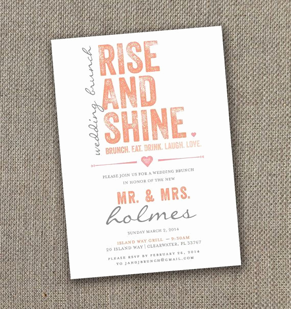 Brunch Invitation Wording Examples Inspirational Fabulous Breakfast and Brunch Wedding Ideas for the Early