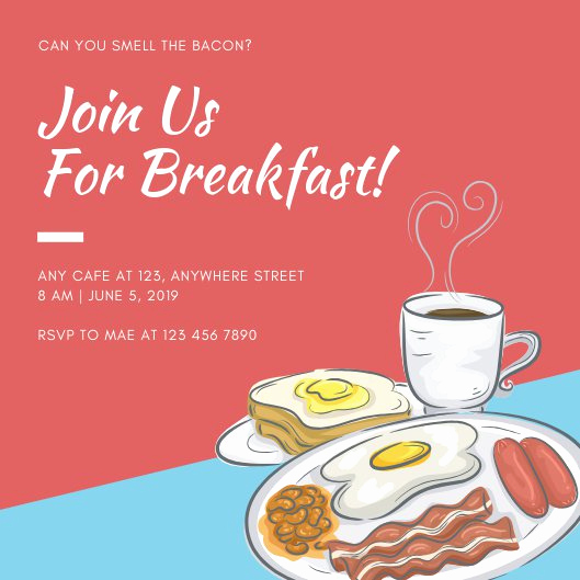 Brunch Invitation Wording Examples New Customize 51 Breakfast Invitation Templates Online Canva
