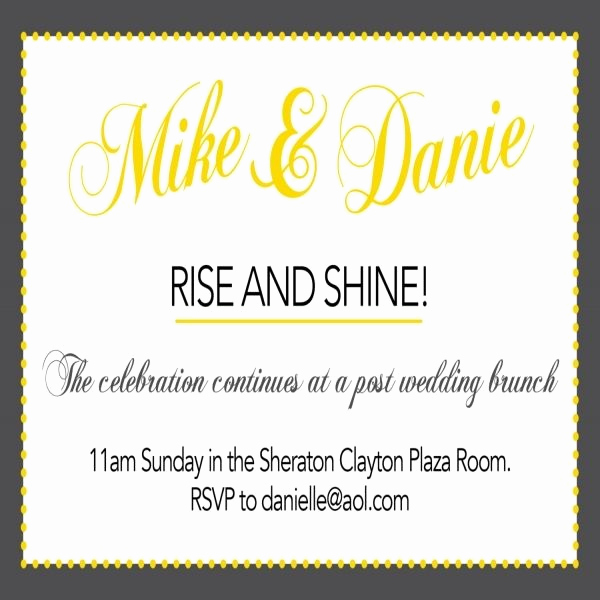Brunch Invitation Wording Examples Unique 13 Best Day after Wedding Brunch Images On Pinterest