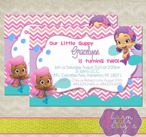 Bubble Guppies Invitation Template Free Beautiful Best 25 Bubble Guppies Invitations Ideas On Pinterest