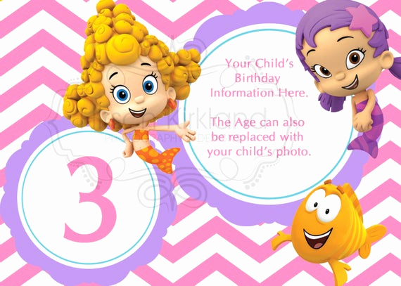Bubble Guppies Invitation Template Free Beautiful Items Similar to Bubble Guppies Invitation On Etsy
