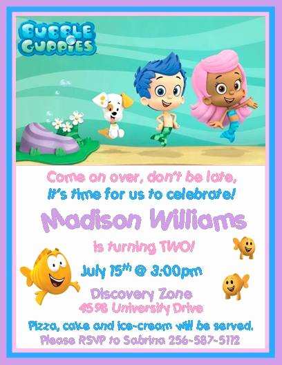 Bubble Guppies Invitation Template Free Elegant Bubble Guppies Birthday Invitations Style 2