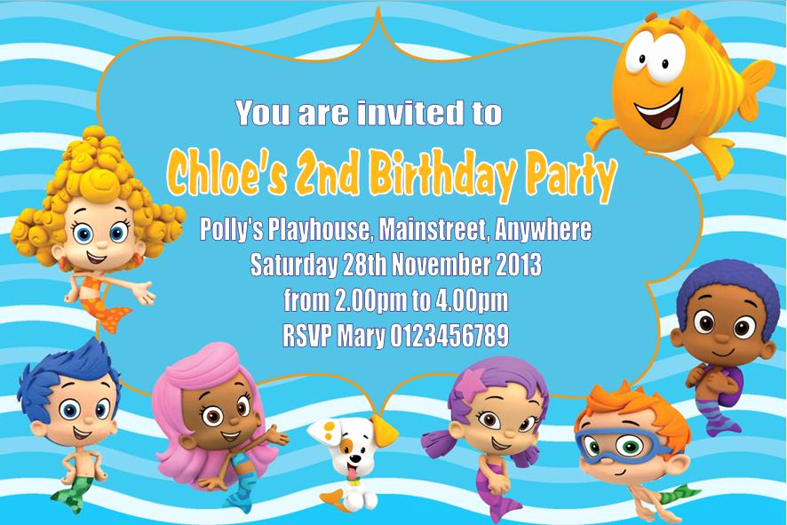 Bubble Guppies Invitation Template Free Elegant Personalised Bubble Guppies Invitations