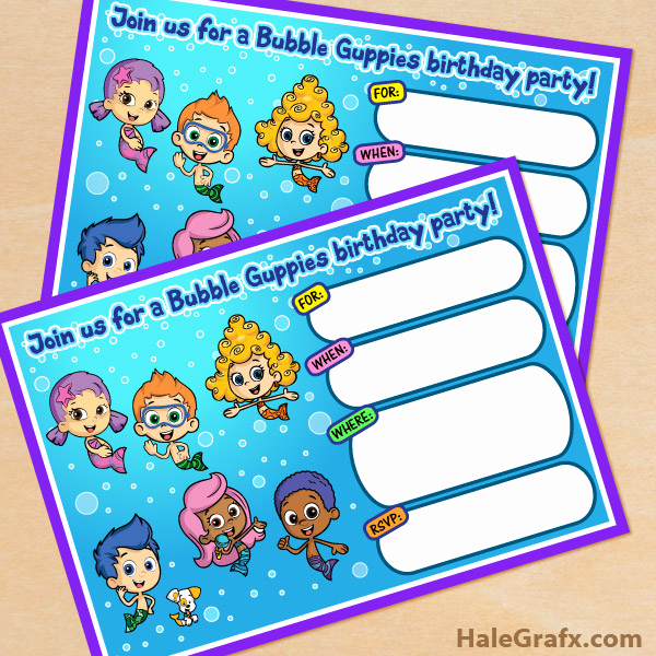 Bubble Guppies Invitation Template Free Fresh Free Printable Bubble Guppies Movie Birthday Invitation
