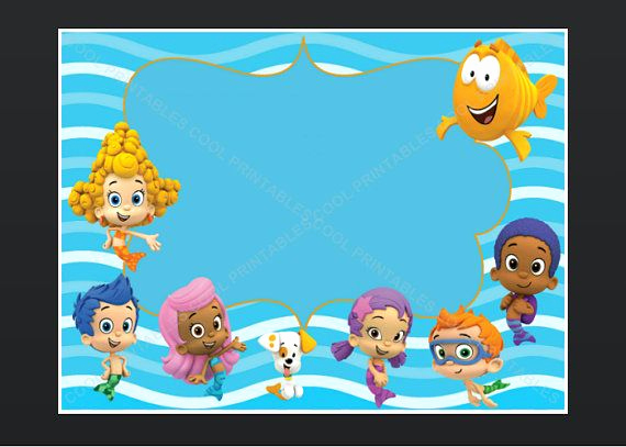 Bubble Guppies Invitation Template Free Fresh Pin by Tina Peerenboom On Bubble Guppies