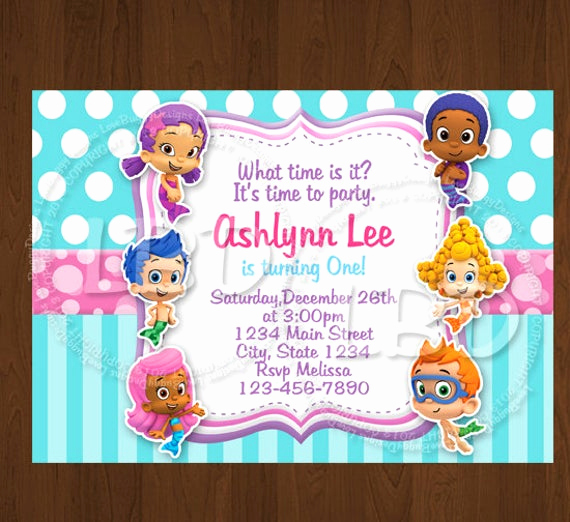 Bubble Guppies Invitation Template Free Inspirational Bubble Guppies Invitation Bubble Guppies Birthday
