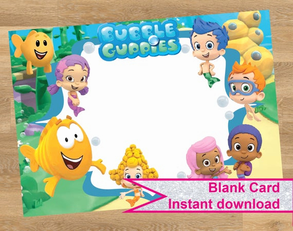 Bubble Guppies Invitation Template Free Inspirational Bubble Guppies Invitation Bubble Guppies Card by