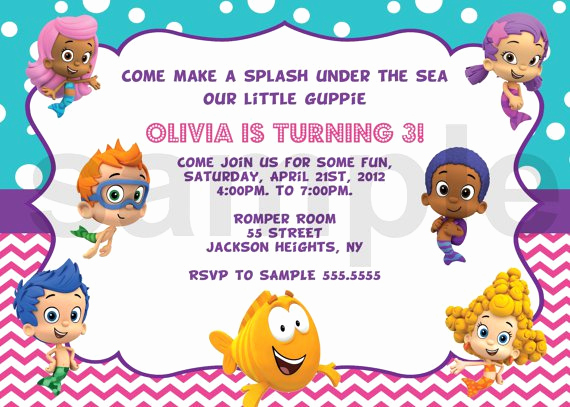 Bubble Guppies Invitation Template Free Inspirational Bubble Guppies Invitation Templates Free