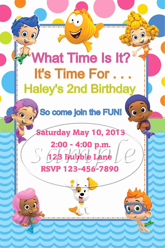 Bubble Guppies Invitation Template Free Inspirational Costume Party Invitations Printable Templates