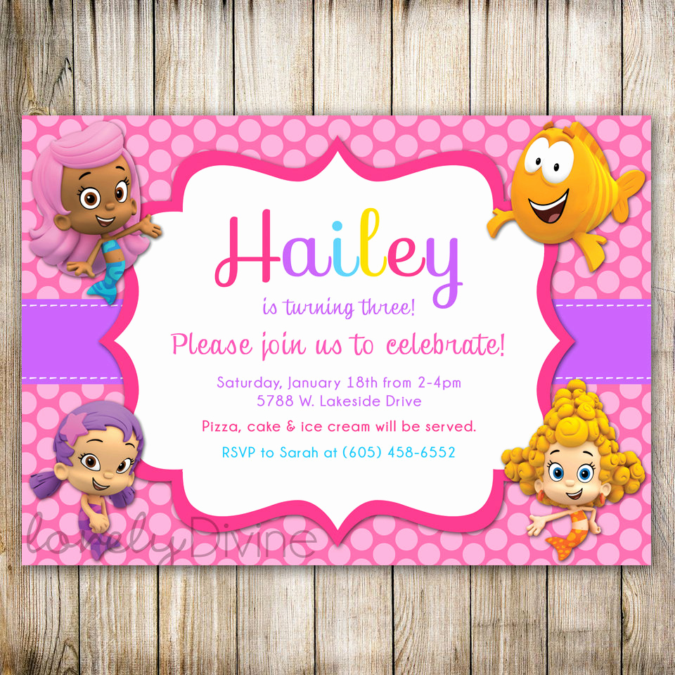 Bubble Guppies Invitation Template Free Inspirational Free Printable Bubble Guppies Birthday Invitations – Free