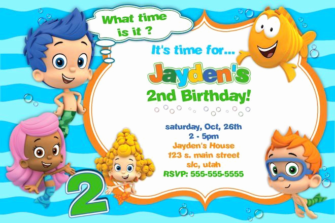 Bubble Guppies Invitation Template Free Lovely 25 Best Ideas About Bubble Guppies Invitations On