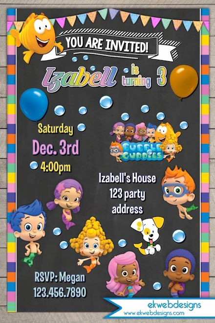 Bubble Guppies Invitation Template Free Luxury 1000 Ideas About Bubble Guppies On Pinterest