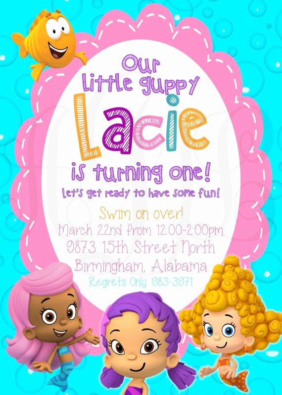 Bubble Guppies Invitation Template Free Luxury 32 Best Bubble Guppies Images On Pinterest