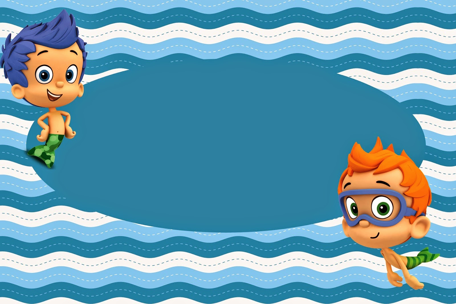 Bubble Guppies Invitation Template Free Luxury Bubble Guppies Free Printable Invitations Oh My Fiesta