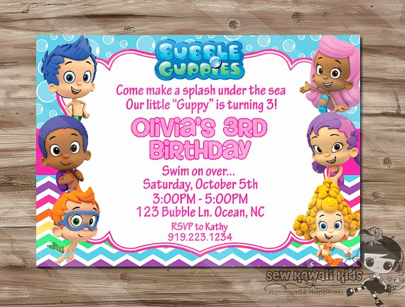Bubble Guppies Invitation Template Free New 1000 Ideas About Bubble Guppies Invitations On Pinterest