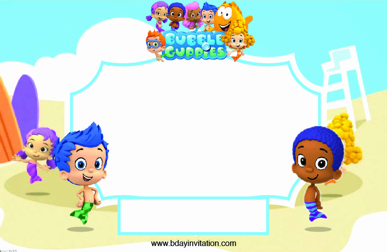 Bubble Guppies Invitation Template Free New Invite Layont Past Birthdays T Bubble Guppies Guppy