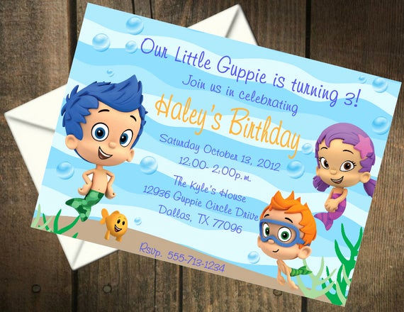 Bubble Guppies Invitation Template Free Unique Bubble Guppies Birthday Party Printable Invitation