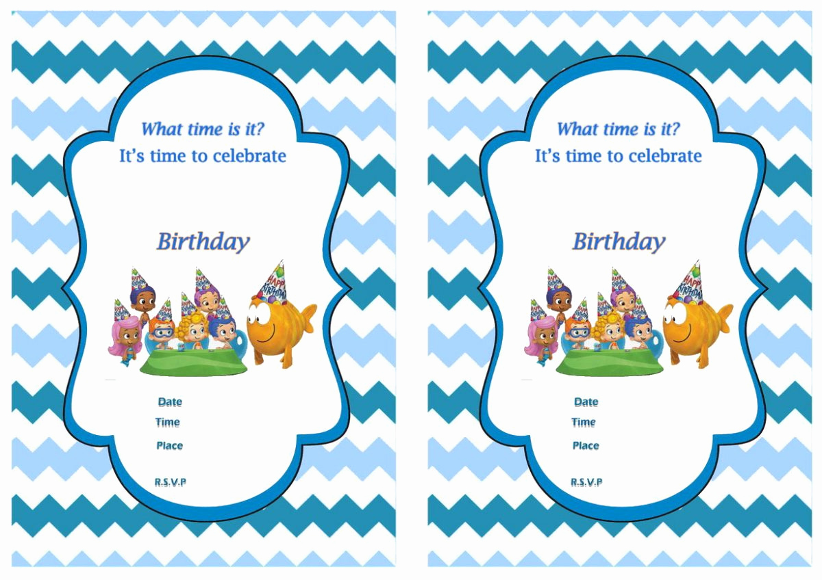 Bubble Guppies Invitation Template Free Unique Free Printable Bubble Guppies Birthday Invitations – Free