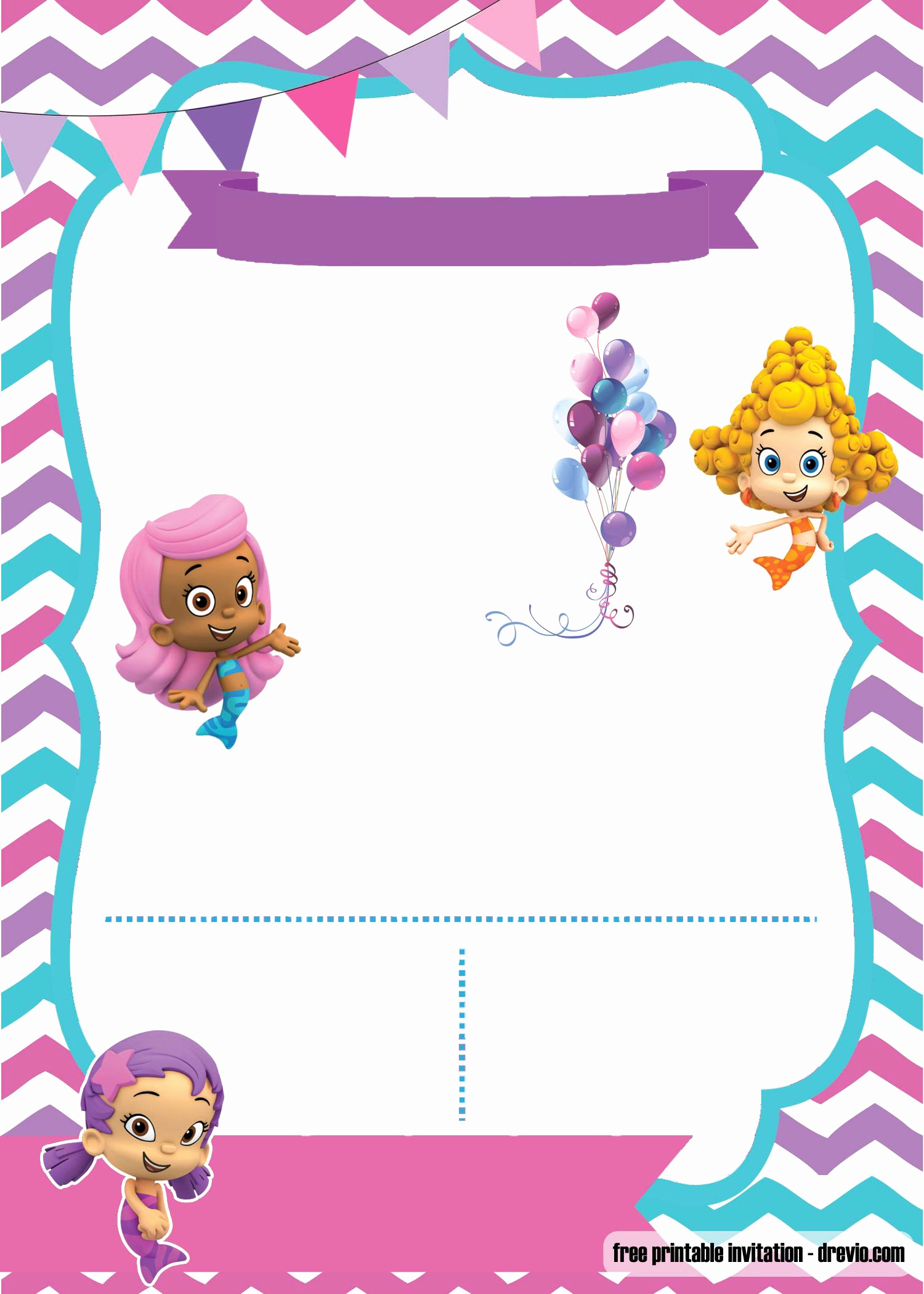 Bubble Guppies Invitation Template Free Unique Free Printable Bubble Guppies Invitation Template