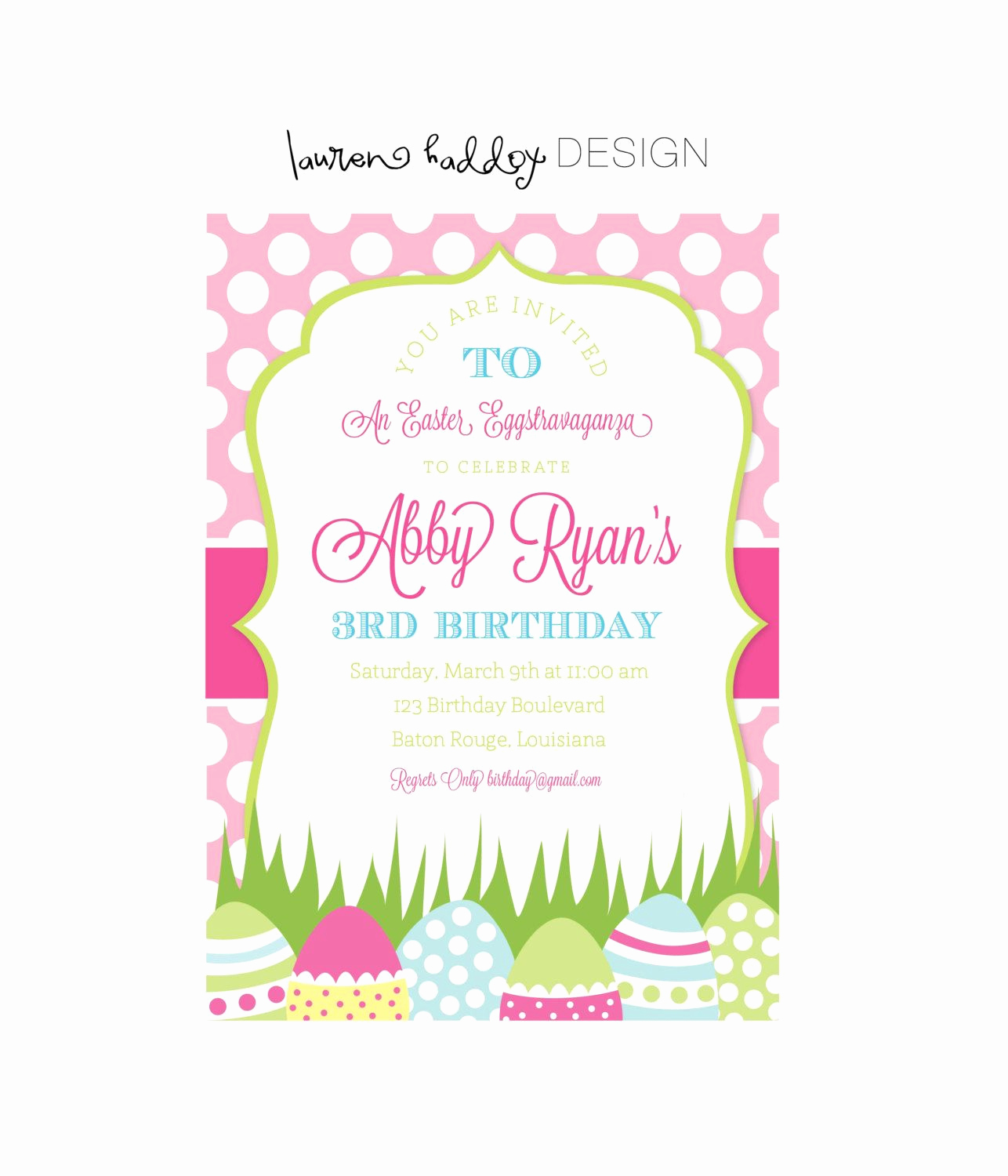 Business after Hours Invitation Elegant Easter Invitation Easter