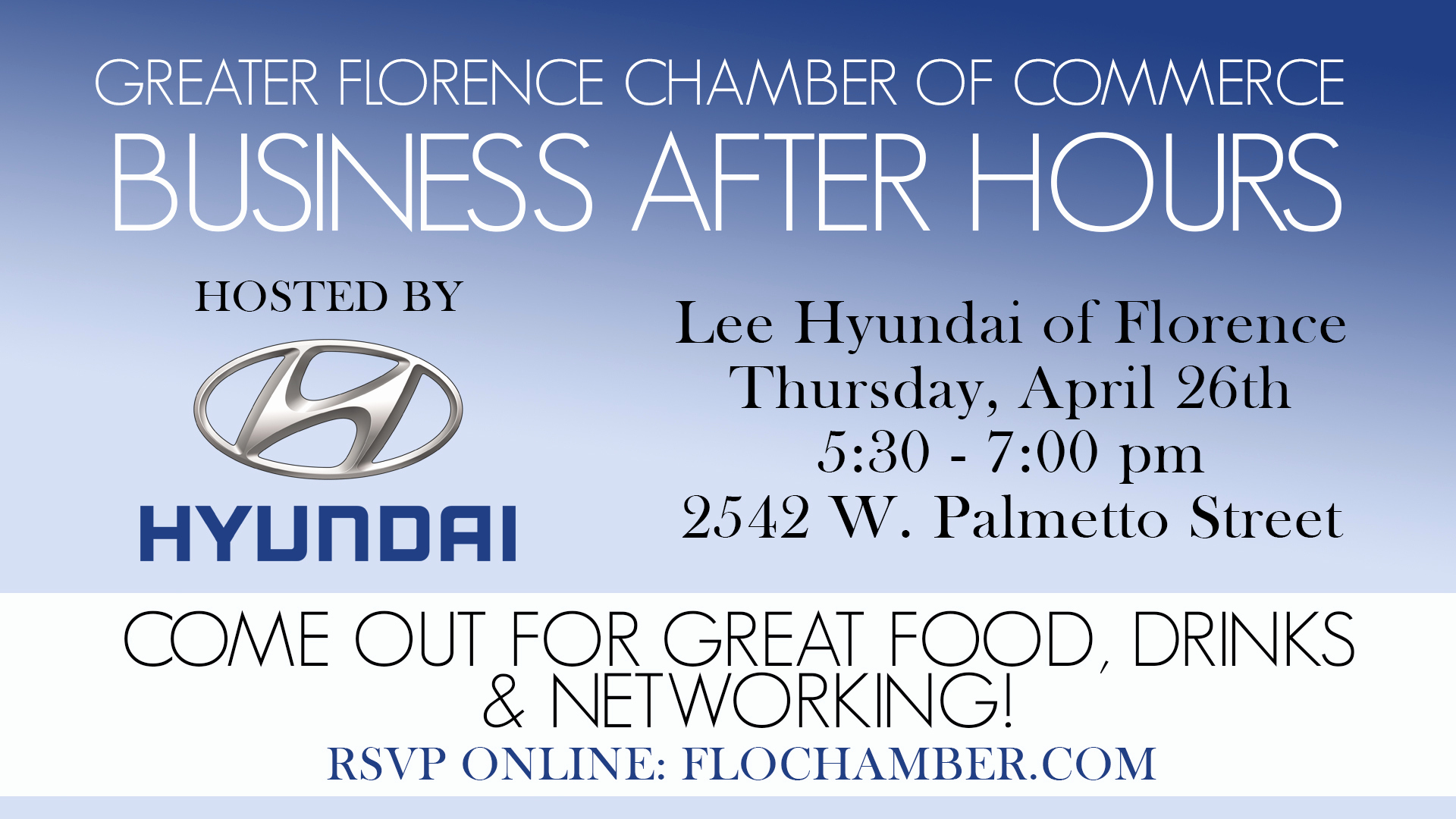 Business after Hours Invitation Inspirational Business after Hours – Lee Hyundai Of Florence – Greater