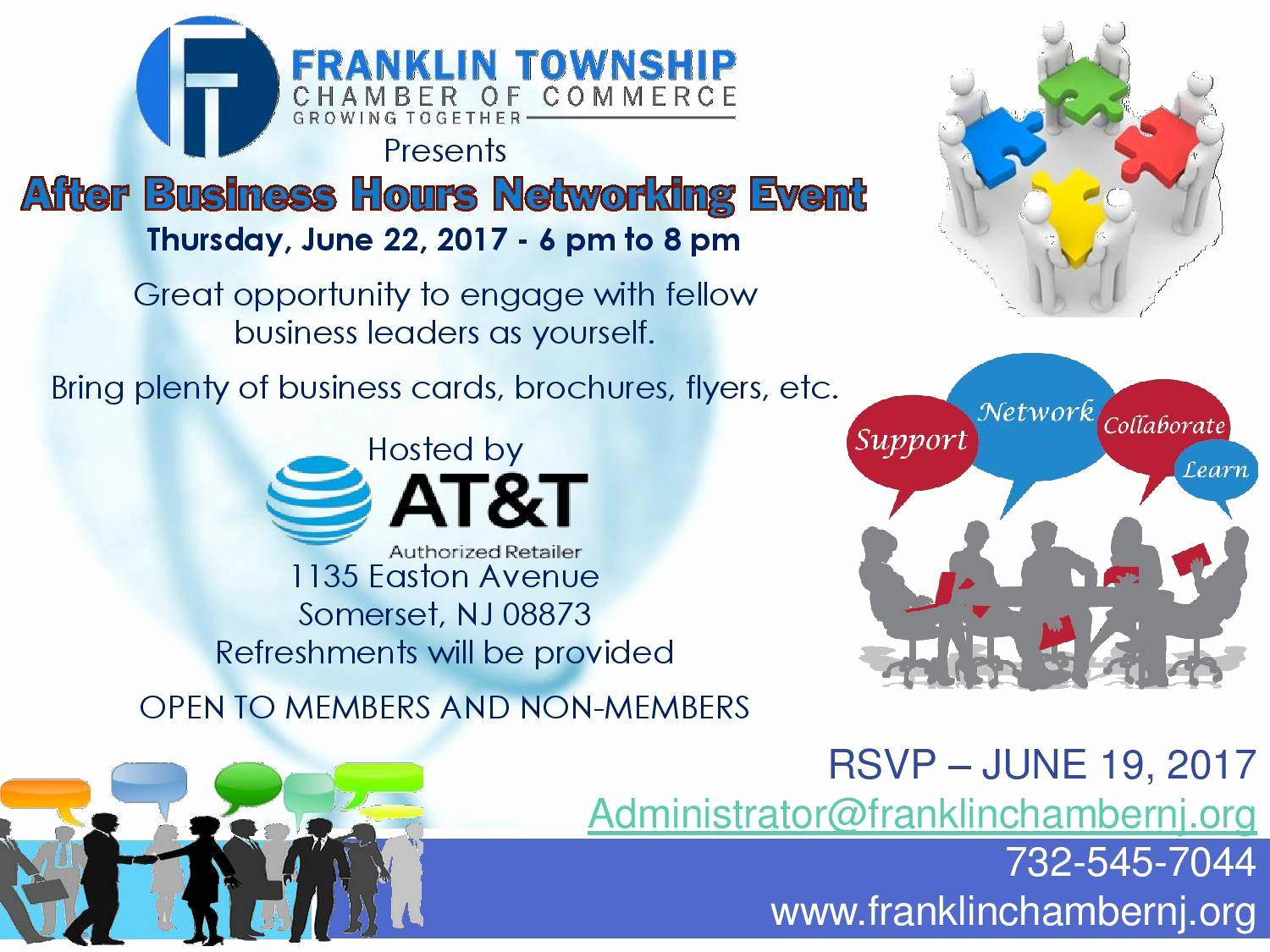Business after Hours Invitation New Franklin township Chamber Of Merce after Hours
