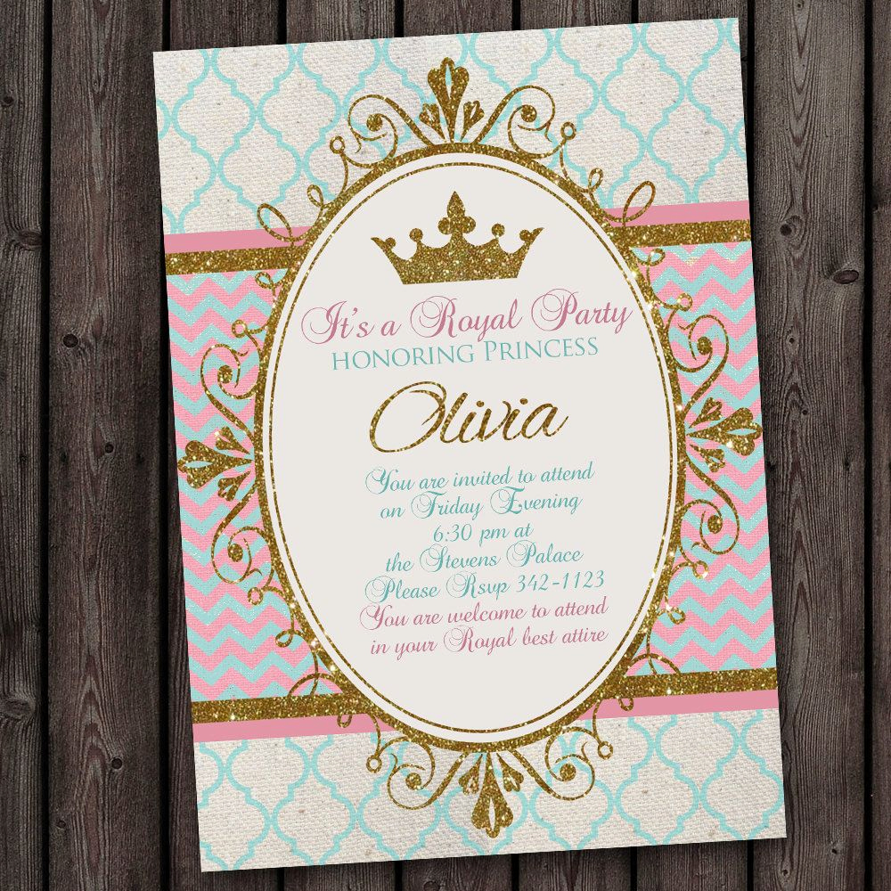 Business after Hours Invitation Unique Princess Invitation Royal Party Gold Elegant with Free