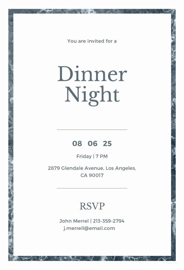 Business Dinner Invitation Template Best Of 47 Dinner Invitation Templates Psd Ai