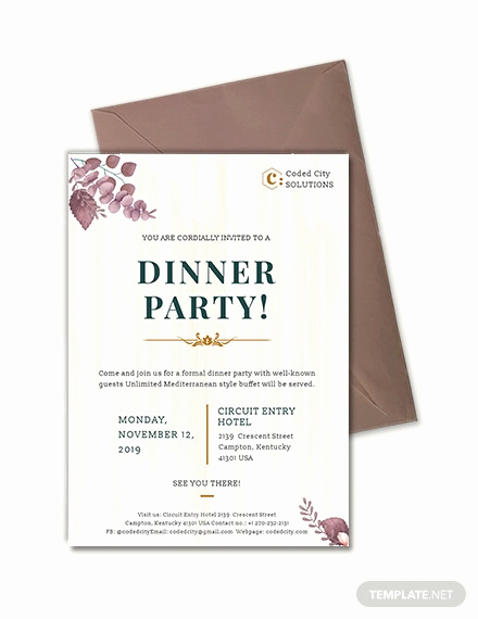 Business Dinner Invitation Template Best Of 59 Invitation Templates Psd Ai Word Indesign