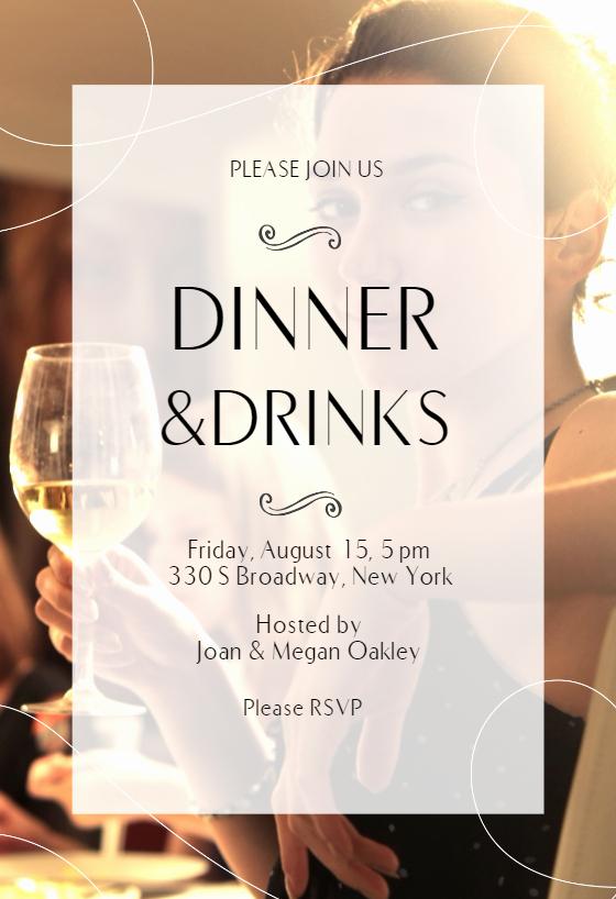 Business Dinner Invitation Template Fresh Classic Dinner Dinner Party Invitation Template Free