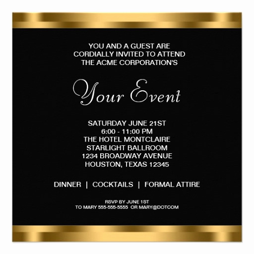 Business Dinner Invitation Template Inspirational Best S Of Business event Invitations Wording