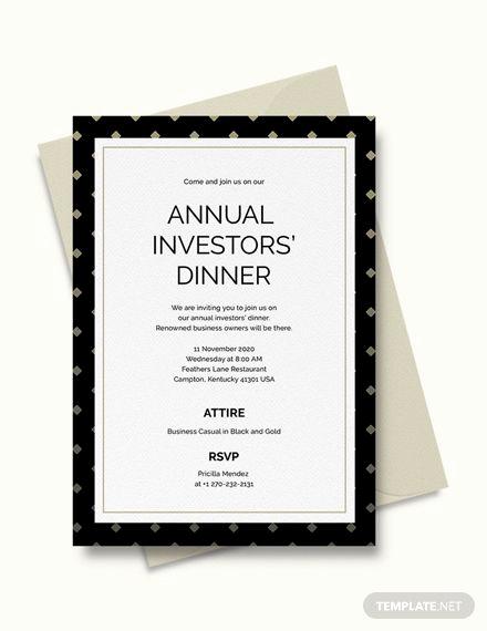 Business Dinner Invitation Template Luxury Business Dinner Invitation
