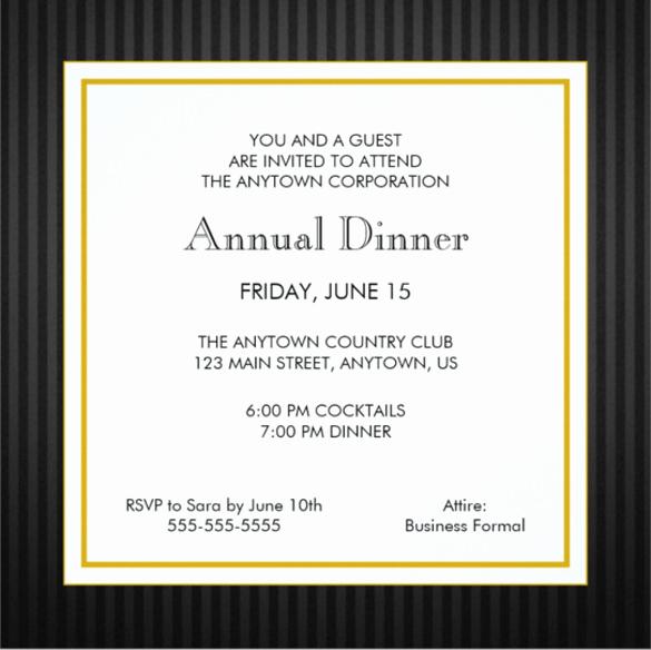 Business Dinner Invitation Template New 29 Business Invitation Templates Psd Vector Eps Ai