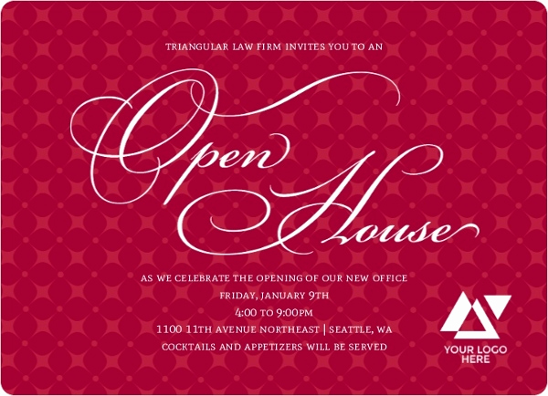 Business Open House Invitation Awesome Diamond Patterned Business Open House Invitation
