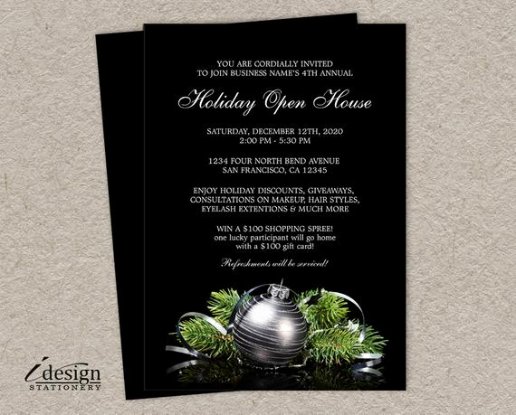 Business Open House Invitation Best Of Items Similar to Business Holiday Open House Invitations