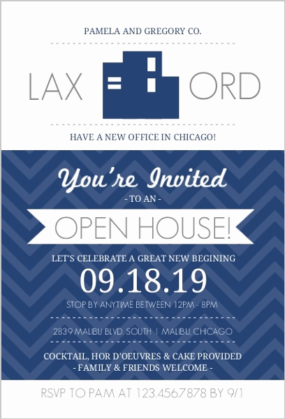 Business Open House Invitation Best Of Navy Blue Fice Modern Business Open House Invite