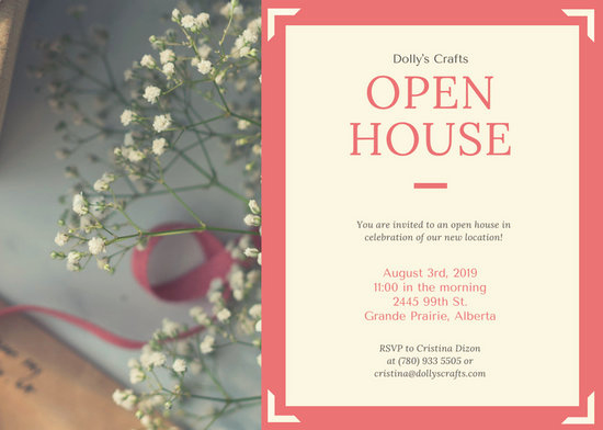 Business Open House Invitation Elegant Customize 472 Open House Invitation Templates Online Canva