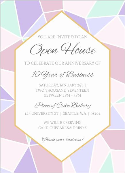 Business Open House Invitation Fresh Geometric Pastel Business Open House Invitation