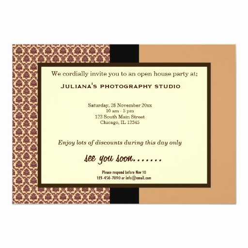 Business Open House Invitation Luxury Open House New Business 5x7 Paper Invitation Card