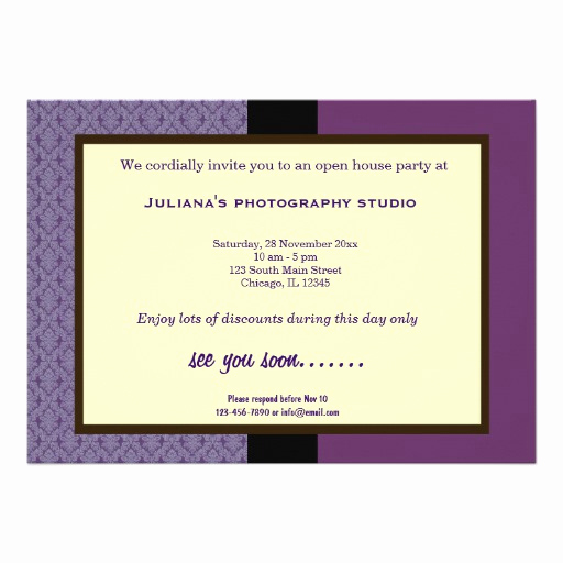 Business Open House Invitation Luxury Open House New Business Personalized Announcements