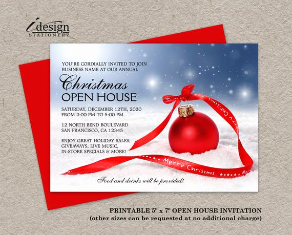 Business Open House Invitation New Items Similar to Festive Business Holiday Open House