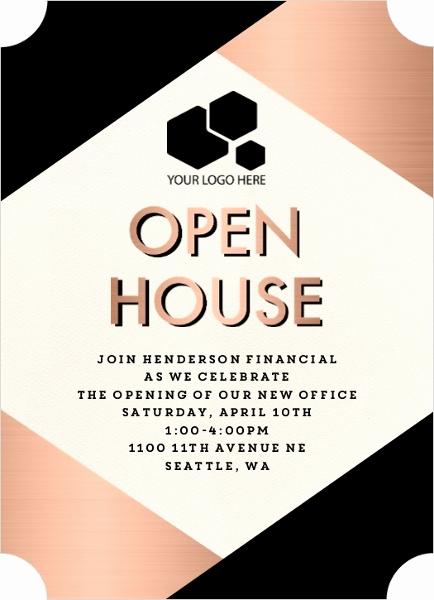 Business Open House Invitation New Modern Copper Business Open House Invitation