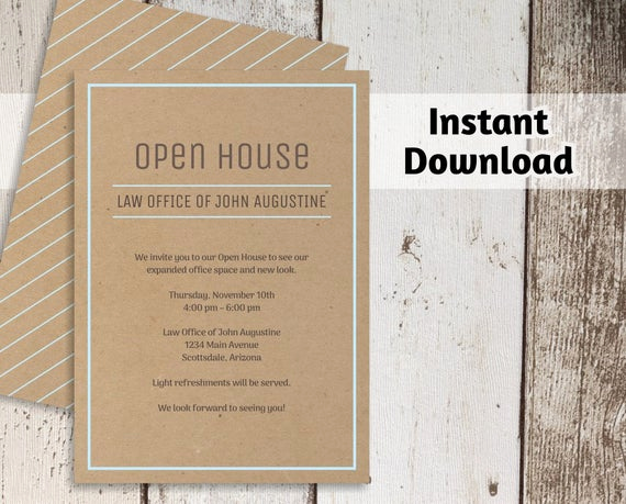 Business Open House Invitation Wording Elegant Printable Business Invitation Template Open House Business