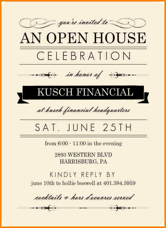Business Open House Invitation Wording Fresh Open House Invite Templates