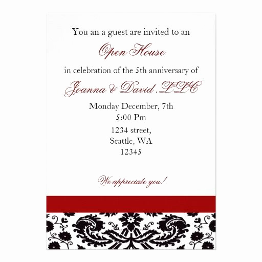 Business Open House Invitation Wording Lovely Elegant Red Corporate Party Invitation