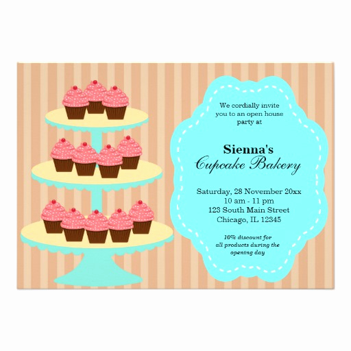 Business Open House Invitation Wording Lovely Open House Bakery Business 5x7 Paper Invitation Card