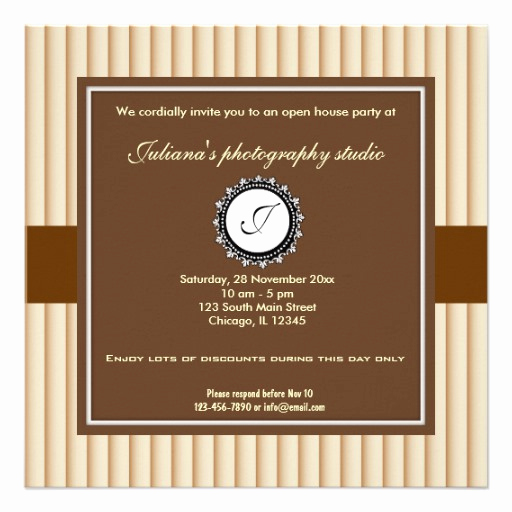 Business Open House Invitation Wording Lovely Open House New Business 5 25x5 25 Square Paper Invitation